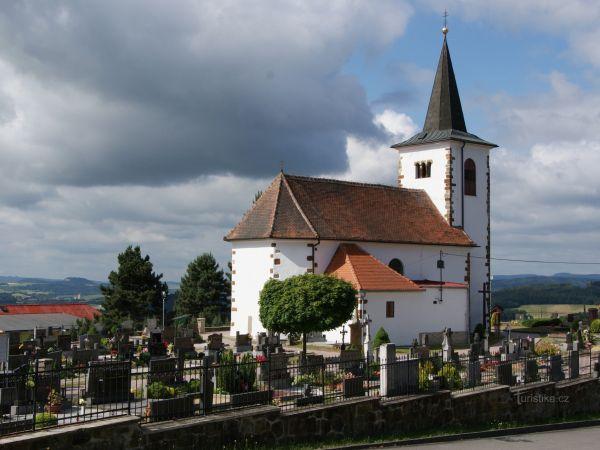 Vísky (u Letovic) – kostel sv. Michaela