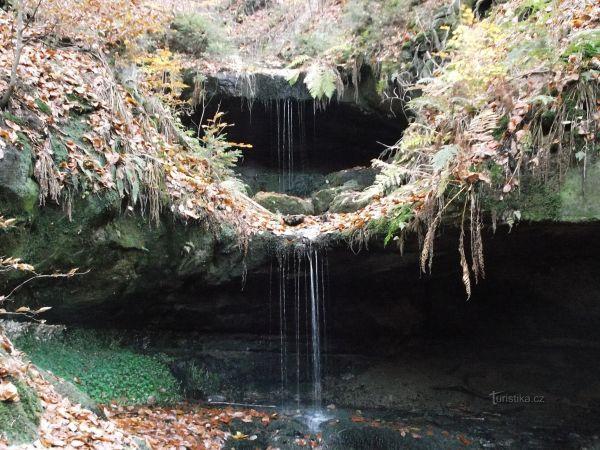 vodopád v Chřibské