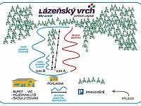 4 km sjezdovka u Schrothových lázní - Horní Lipová