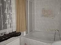 KOUPELNA S WC V PŘÍZEMÍ+ZVLÁŠŤ 3-tí WC. - apartmán k pronájmu Dolní Lipová