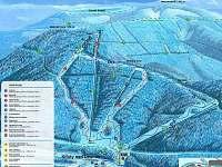 mapa skiareálu 450m od chaty