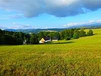 panorama za chalupou - k pronajmutí Chrastice