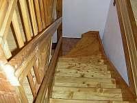 Schodiště do podkrovních apartmánů - Malá Morávka