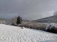 Zima 2021 - výhled z domu - Loučná nad Desnou