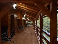 venkovní terasa - chalupa k pronájmu Malá Morávka - Karlov pod Pradědem