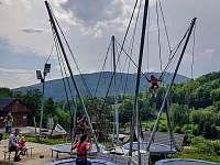 Bungee trampolíny - pronájem chaty Kouty nad Desnou