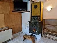 Kachlová kamna apartmán 1 - Kouty nad Desnou