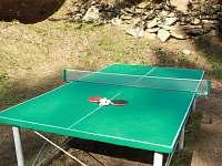 Stolní tenis u chalupy - pronájem chaty Kouty nad Desnou