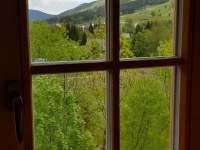 Výhled na Stezku v oblacích - chalupa k pronájmu Dolní Morava