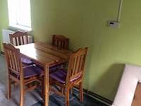 Jídelní kout - chata ubytování Filipovice