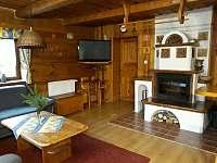 Obývací pokoj. - pronájem chaty Štědrákova Lhota