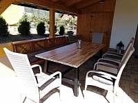 Chalupa Vichrovka 1 - terasa - ubytování Filipovice