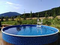 Venkovní bazén kruhový - průměr 3,6m - chalupa k pronajmutí Filipovice