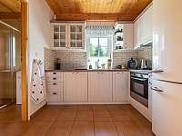 Nová kuchyň - chalupa ubytování Dětřichov