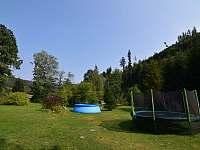 Bazén v zahradě - chalupa k pronajmutí Holčovice - Komora