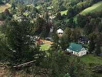 Chalupa - pohled z kopce - Holčovice - Komora