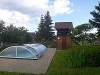 bazén se slanou vodou - chalupa k pronájmu Rudná pod Pradědem