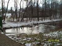 Řeka Vidnávka v sousedství chaoupky