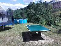 zahrada, stolní tenis