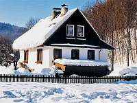 Původní chata v zimě