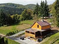 Pohled dron - chata ubytování Dolní Bušínov