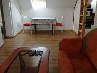 Obývací pokoj s jídelním koutem - apartmán k pronájmu Uhelná