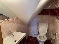 Toaleta patro - chalupa k pronájmu Petrov nad Desnou