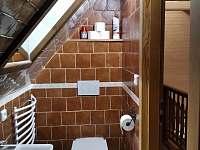 Koupelna podkroví - chalupa k pronajmutí Velké Losiny