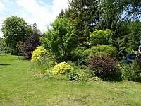 zahrada - chalupa ubytování Ludvíkov