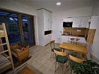 pokoj - kuchyňský kout - apartmán k pronájmu Dětřichovice