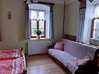 ložnice - pronájem chalupy Stříbrnice