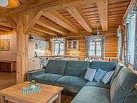 obývací pokoj s kuchyní 55m2 - pronájem chalupy Branná