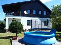 bazén , trampolína u chalupy - Loučná nad Desnou