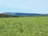 Pohled na Praděd z kopce nad chatou - pronájem Suchá Rudná