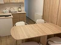 pokoj s kuchyňským koutem a sklopnými postelemi - apartmán ubytování Malá Morávka