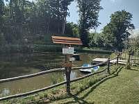 rybník se šlapadlem - pronájem chalupy Bartoňov