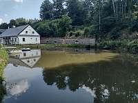 rybník u chalupy - ubytování Bartoňov