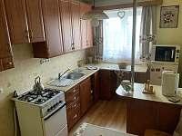kuchyň - apartmán k pronajmutí Jeseník