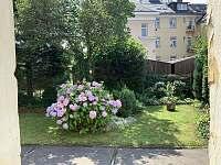 vstup z bytu na zahradu - apartmán k pronájmu Jeseník