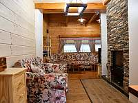 Obývací pokoj - pronájem chaty Ludvíkov