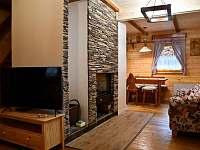 Obývací pokoj - chata k pronájmu Ludvíkov