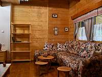 Obývací pokoj - chata ubytování Ludvíkov