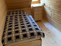 Spaní 2 - možnost upravit na jedno lůžko - chata k pronájmu Ludvíkov