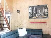 Obývací místnost - chata ubytování Dolní Bušínov