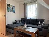 Obývací pokoj - apartmán ubytování Horní Václavov