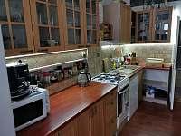 Detail kuchyňské linky - pronájem apartmánu Vidnava