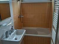 Sprchový kout s WC - apartmán ubytování Zlaté Hory