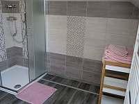 Aprtmány U mlýna, růžový apartmán - sprchový kout - k pronájmu Maršíkov