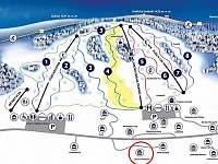 Ski areál Kunčice - přes cestu -