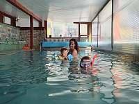 wellness: vyhřívaný krytý bazén přímo na chatě - apartmán k pronajmutí Kunčice